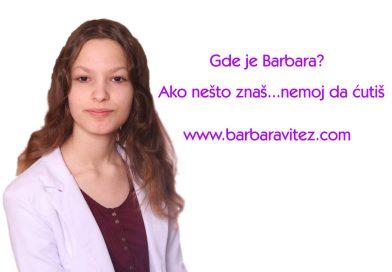 Podignut sajt da bi brže pronašli Barbaru Vitez